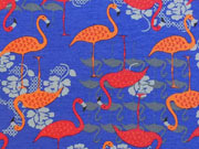 Megan Blue Jersey Flamingo, royalblau