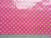 RESTSTÜCK 26 cm laminierte Baumwolle Blümchen Michael Miller, hellgrün pink