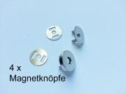 4 Magnetknöpfe 18mm- silber