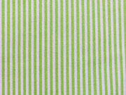 Mini Streifen - hellgrün/weiß