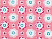 Ornaments kleine Blumen, lachs (rosa)