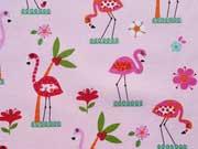 Ottoman bedruckt Flamingos, rosa