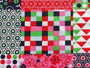 Baumwolle Patchwork Look Quadrate, bunt