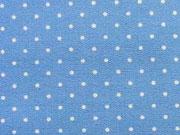 Pünktchen 2mm, stahlblau-weiß