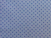 RESTSTÜCK 20 cm Baumwollstoff Punkte 2mm, dunkelblau auf dunkelgrau
