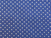 Baumwollstoff Punkte 2mm, grau auf dunkelblau