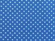 RESTSTÜCK 43 cm Baumwollstoff Punkte 2mm, hellblau jeansblau