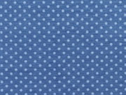 beschichtete Punkte 2mm,hellblau auf  jeansblau