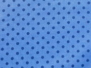 RESTSTÜCK 78 cm beschichtete Punkte hellblau