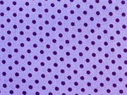 Baumwollstoff Punkte 2 mm, lila auf helllila