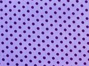 Punkte 2mm, lila auf helllila