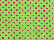 Punkte 2mm, pink auf hellgrün