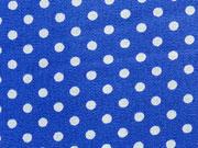 beschichtete Baumwolle Punkte 2mm, weiß royalblau