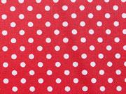 RESTSTÜCK 39 cm beschichtete Punkte 2mm, weiss auf rot