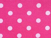 Baumwollstoff Punkte 0,6 cm, rosa auf pink