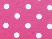 RESTSTÜCK 65 cm Jersey Punkte 0,8 cm - weiss auf pink
