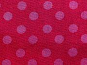 BW Punkte 12 mm - pink auf rot
