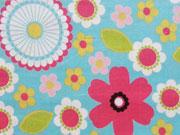 Robert Kaufman Feincord Blumen, Blue Jay