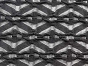 Leicht transparenter Jersey mit Rauten - schwarz