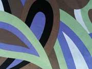 Viskosejersey Retroprint - braun/hellgrün