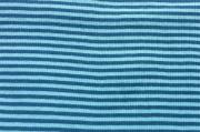 Ringelbündchen - helltürkis/blau