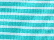 Ringelbündchen helles aquamarin-weiß