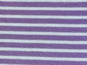 Ringelbündchen helllila-weiß