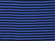 RESTSTÜCK 15 cm Ringelbündchen, Feinripp - dunkelblau/blau
