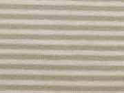 RESTSTÜCK 66cm Ringeljersey 2mm - beige/weiss