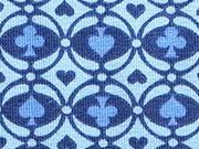 Lillestoff Bio-Jersey Rummy Kombistoff, blau