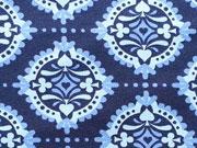 Lillestoff Bio-Jersey Rummy, blau