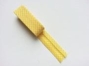 2 m Schrägband Mini Vichykaro, gelb