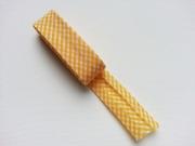 2 m Schrägband Mini Vichykaro, orange