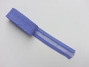 2 m Schrägband Pepita, blau/weiss