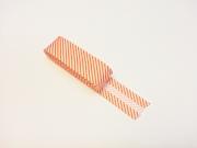 2 m Schrägband gestreift, weiß orange