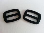 2 Schieber/Feststeller 2,5 cm (25mm) schwarz
