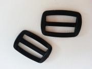 2 Schieber/Feststeller 3 cm (30mm) schwarz