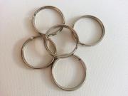 5 Schlüsselringe 26mm, silber (Metall)