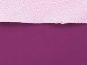 RESTSTÜCK 65 cm Softshell, Pflaume/zartrosa