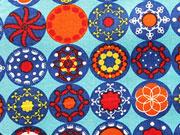 Baumwolle Sparklike Symbols Kringel - türkis