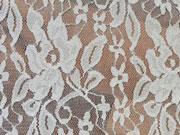 Spitze Lace Fiona Blumen, cremeweiss