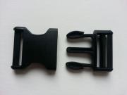 Steckschnalle 4 cm (40mm), schwarz