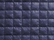 wattierter Steppstoff quadratisch, dunkelblau