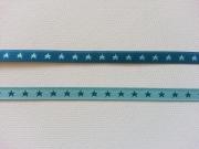 Farbenmix Sternchenband 7mm, mint/petrol
