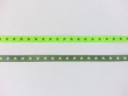 Farbenmix Sternchenband 7mm, helles neongrün/grau