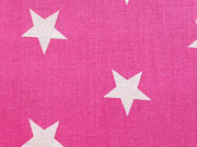 Sternestoff Big Star 3 cm gross - pink/weiss