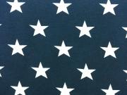 Vincente weisse Sterne 4,5 cm auf dunkelblau