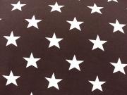 Vincente weisse Sterne 4,5 cm auf braun
