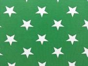 Vincente weisse Sterne 4,5 cm auf grün