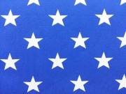 Vincente weisse Sterne 4,5 cm auf mittelblau